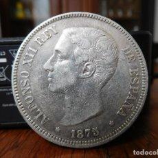 Monedas de España: MONEDA ESPAÑOLA DE 5 PESETAS AÑO 1875 PLATA ALFONSO XII. Lote 169415260