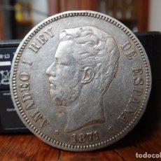 Monedas de España: MONEDA ESPAÑOLA DE 5 PESETAS AÑO 1871 PLATA AMADEO I ESTRELLAS 18 71. Lote 169415972