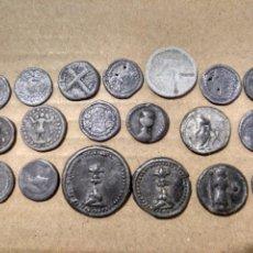 Monedas de España: BARATO LOTE DE 19 PLOMOS DIVERSOS DE IGLESIAS DE MALLORCA BALEARES. A CLASIFICAR.. Lote 169558737