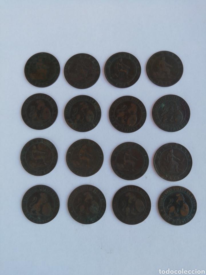 LOTE 16 MONEDAS DE 2CENRIMOS, AÑO 1870. (Numismática - España Modernas y Contemporáneas - De Isabel II (1.834) a Alfonso XIII (1.931))