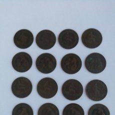 Monedas de España: LOTE 16 MONEDAS DE 2CENRIMOS, AÑO 1870.. Lote 169574157