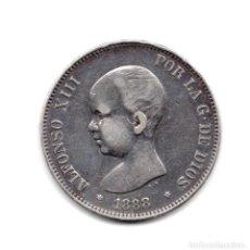 Monedas de España: ALFONSO XIII 1888 * 88 - 5 PESETAS DE PLATA MPM. Lote 169687964