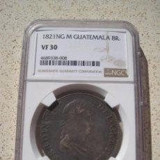 Monedas de España: 8 REALES NG, NUEVA GUATEMALA, 1821, FERNANDO VII, CON CERTIFICADO NGC. Lote 169778696
