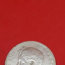 Monedas de España: 5 PESETAS ALFONSO XIII PLATA 1898 SGV (*18-*98) CADETE. Lote 169922580