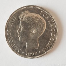 Monedas de España: PRECIOSA MONEDA DE 5 PTS. 1898*18*98. ALFONSO XIII.. Lote 170008476