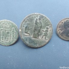 Monedas de España: LOTE DE 3 BOTONES ANTIGUOS. Lote 170015520
