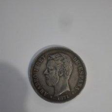 Monedas de España: MONEDA FALSA DE EPOCA 5 PESETAS AMADEO I REY DE ESPAÑA 1871 // 71*. Lote 170093596