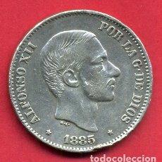 Monedas de España: MONEDA PLATA , 50 CENTAVOS MANILA , FILIPINAS 1885 , MBC+ , ORIGINAL , B28. Lote 170113212