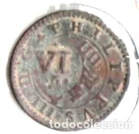 FELIPE III, 4 MARAVEDÍS. 1604. SEGOVIA CON RESELLO (Numismática - España Modernas y Contemporáneas - De Reyes Católicos (1.474) a Fernando VII (1.833))
