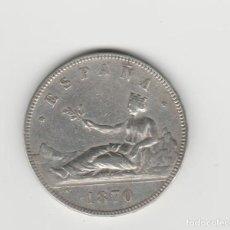 Monedas de España: GOBIERNO PROVISIONAL- 5 PESETAS-1870*18-70. Lote 170478748