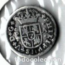 Monedas de España: FELIPE V, PRECIOSO MEDIO REAL. PLATA, SEVILLA 1734. Lote 170545460