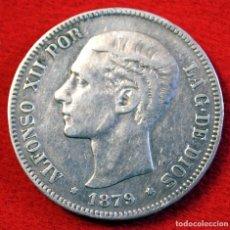 Monedas de España: ALFONSO XII, 5 PESETAS DE PLATA DE 1879 * 18 - 79. MADRID - E.M.M. DURO DE PLATA. . Lote 170559676