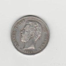 Monedas de España: AMADEO I- 5 PESETAS-1871*18-73-RARA. Lote 170856100