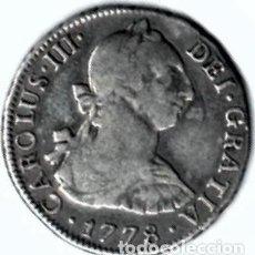 Monedas de España: CARLOS III, BONITOS 2 REALES PLATA, LIMA 1778. Lote 170861495