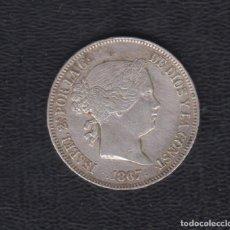 Monedas de España: 1867.- 2 ESCUDOS PLATA ISABEL II MADRID.. Lote 170910050