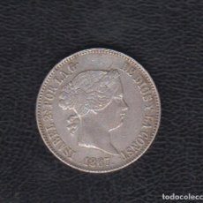 Monedas de España: 1867.- 1 ESCUDO PLATA ISABEL II MADRID. Lote 170911485