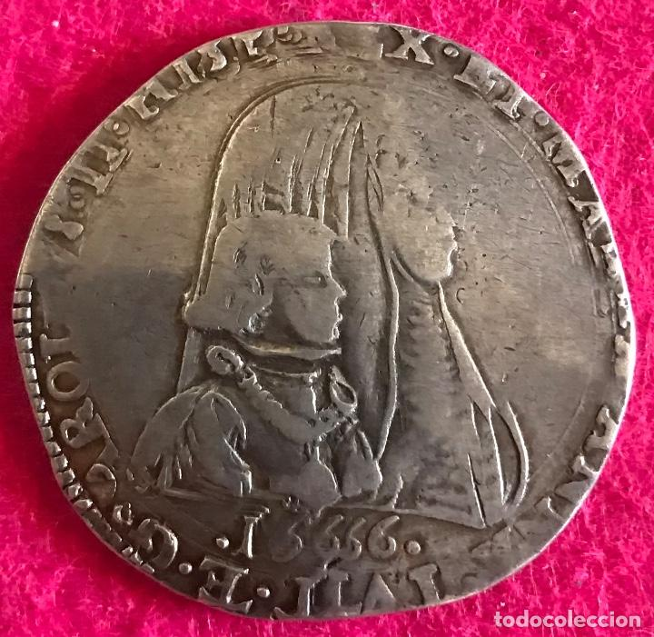 1 FELIPE / DUCATÓN DE CARLOS II - 1666 - MILÁN. MUY RARA!!! - 24.42G AG - MBC- (Numismática - España Modernas y Contemporáneas - De Reyes Católicos (1.474) a Fernando VII (1.833))