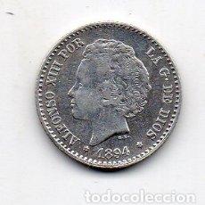 Monedas de España: ALFONSO XIII. 50 CÉNTIMOS. AÑO 1894 *9 *4. PG-V. PLATA.. Lote 171054263