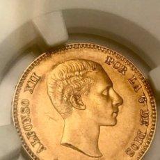 Monedas de España: 25 PESETAS . ALFONSO XII. 1880*80. MADRID . AU55. ORO. Lote 171062604