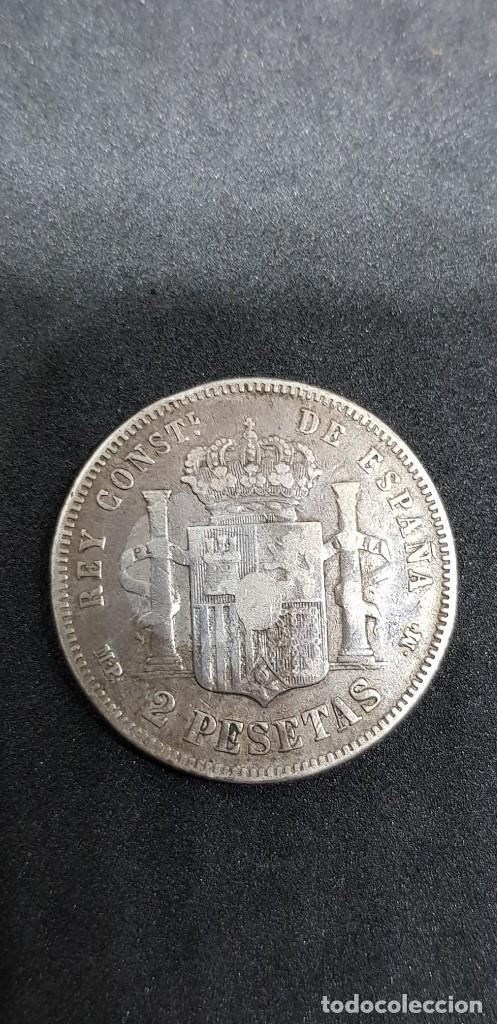 Monedas de España: 2 PESETAS PLATA ALFONSO XIII 1889 (*18-*89) PELÓN - Foto 5 - 171141354
