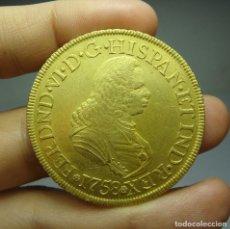 Monedas de España: 8 ESCUDOS / ONZA. ORO. FERNANDO VI. POPAYAN - J - 1758.. Lote 171672550