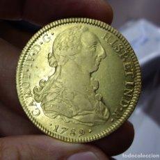 Monedas de España: 8 ESCUDOS DE ORO (UNA ONZA) - CARLOS IV - BUSTO DE CARLOS III - 1789 MEJICO - BRILLO ORIGINAL. Lote 171673853