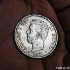 Monedas de España: AMADEO I 5 PESETAS 1871*1871 PLATA. Lote 171715930