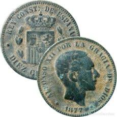 Monedas de España: ALFONSO XII, DIEZ CÉNTIMOS 1877/OM. 444-LM. Lote 171769192