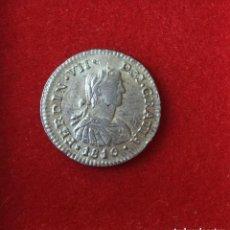 Monedas de España: FERNANDO VII 1810 1/2 REAL MEXICO H.J. EBC+/SC- . Lote 171968855