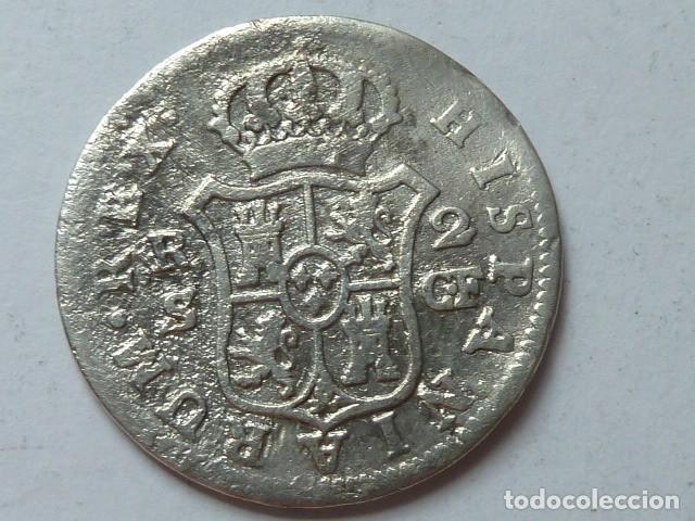 Monedas de España: Moneda de plata de 2 reales de 1779 de Carlos III, CECA de SEVILLA, ensayadores C F - Foto 2 - 172002739