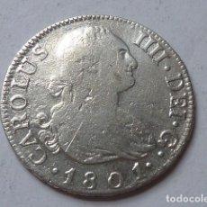 Monedas de España: MONEDA DE PLATA DE 2 REALES DE 1801 DE CARLOS IV, CECA DE MADRID, ENSAYADORES F A. Lote 172004264