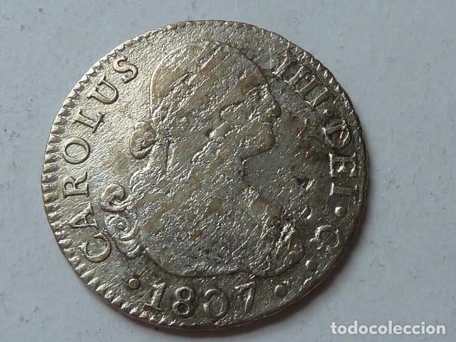 Monedas de España: Moneda de plata de 2 reales de 1807 de Carlos IV, CECA de SEVILLA, ensayadores C N - Foto 2 - 172006378
