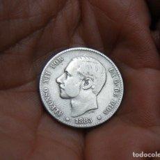 Monedas de España: ALFONSO XII 1 PESETA 1883*83 PLATA. Lote 172029768