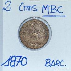 Monedas de España: GOBIERNO PROVISIONAL - AÑO 1870 - 2 CENTIMOS - BC. Lote 172238087