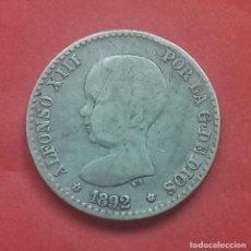 Monedas de España: ALFONSO XIII 50 CÉNTIMOS 1892 (MBC-) . Lote 172336487
