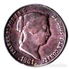 Monedas de España: ISABEL II. 25 CÉNTIMOS DE REAL. 1861. SEGOVIA. Lote 173079295