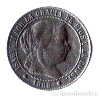 ISABEL II. 2 1/2 CÉNTIMOS DE ESCUDO. 1868. OM (Numismática - España Modernas y Contemporáneas - De Isabel II (1.834) a Alfonso XIII (1.931))