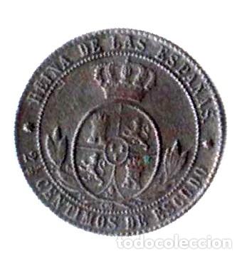Monedas de España: Isabel II. 2 1/2 céntimos de escudo. 1868. OM - Foto 2 - 173080430