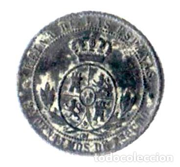 Monedas de España: Isabel II. 2 1/2 céntimos de escudo. 1868. Jubia. OM - Foto 2 - 173081198