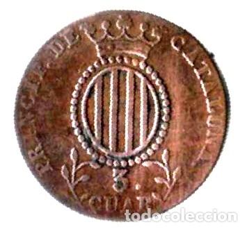 ISABEL II. PRINCIPADO DE CATALUÑA. 3 CUARTOS.1844 (Numismática - España Modernas y Contemporáneas - De Isabel II (1.834) a Alfonso XIII (1.931))