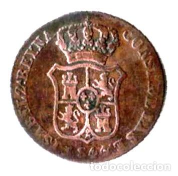Monedas de España: Isabel II. Principado de Cataluña. 3 cuartos.1844 - Foto 2 - 173081583