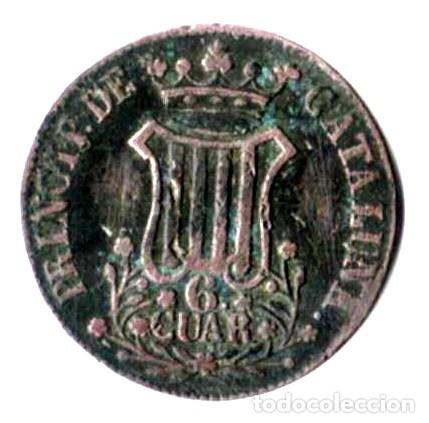ISABEL II. PRINCIPADO DE CATALUÑA. 6 CUARTOS. 1841 (Numismática - España Modernas y Contemporáneas - De Isabel II (1.834) a Alfonso XIII (1.931))