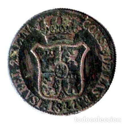 Monedas de España: Isabel II. Principado de Cataluña. 6 Cuartos. 1841 - Foto 2 - 173081840