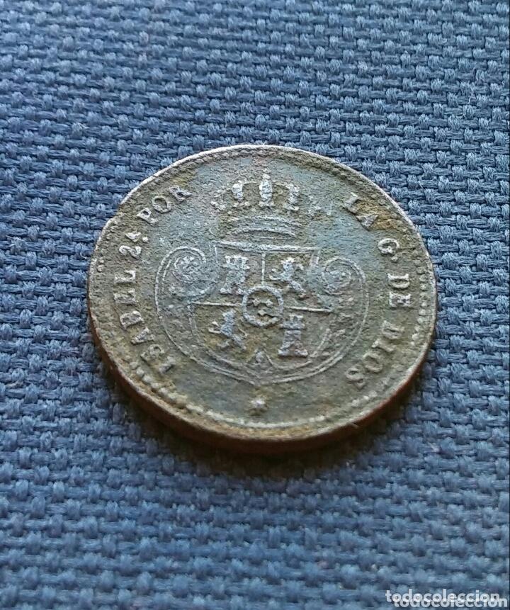 Monedas de España: Décima de real 1853 Segovia. - Foto 2 - 173087693