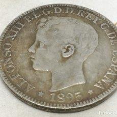 Monedas de España: RÉPLICA MONEDA PUERTO RICO, ESPAÑA. 1 PESO 5 PESETAS. 1895. ESPAÑA. REY ALFONSO XIII. Lote 192251836
