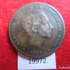 Monedas de España: ESPAÑA 10 CÉNTIMOS 1877 OM, ALFONSO XII, 12. Lote 173944504