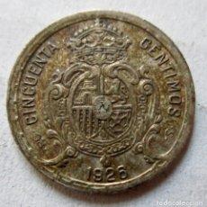 Monedas de España: MONEDA. 50 CENTIMOS. ALFONSO XIII. 1926. PLATA. Lote 174012298