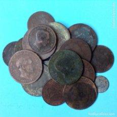 Monedas de España: LOTE 17+1 MONEDAS DE 5 Y 10 CENTIMOS DE COBRE DEL CENTENARIO 1870-1879 + 1 CENTIMO 1870. Lote 174028055