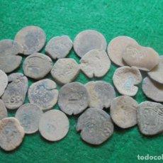 Monedas de España: LOTE DE MAS DE 25 MONEDAS ANTIGUAS A LIMPIAR . Lote 174223628