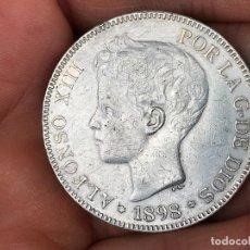 Monedas de España: MONEDA DE 5 PESETAS DE PLATA ALFONSO XIII 1898. Lote 174328773